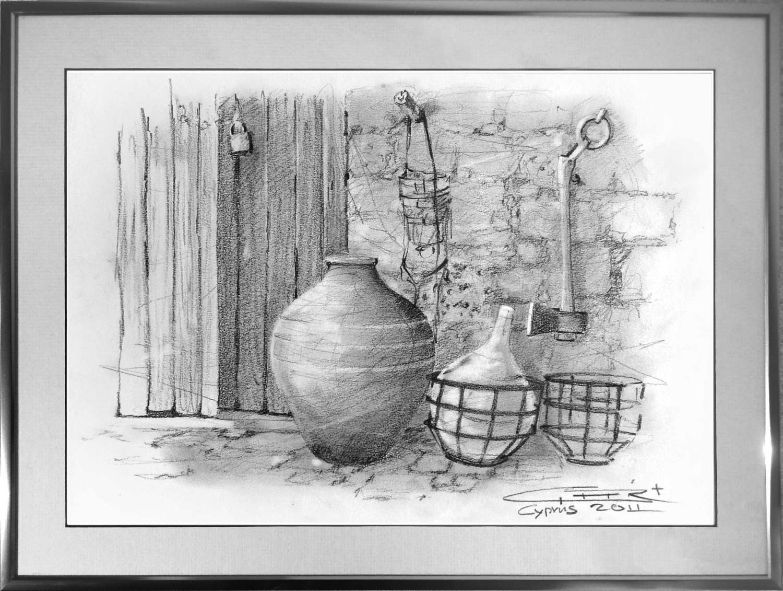 Cyprus (voorstudie schilderij)