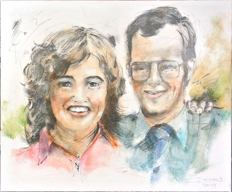 Echtpaar naar foto rond 1973